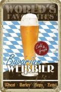 NostalgicArt metallplaat Bavarian Weissbier