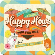 NostalgicArt retro klaasialus Happy Hour 1tk