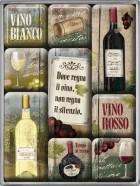 NostalgicArt magnetite sari Vino Rosso/Vino Bianco 9tk