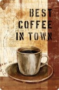 NostalgicArt metallplaat Best coffee in town
