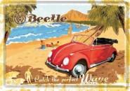 NostalgicArt metallist postkaart VW Beetle Catch the perfect wave