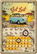 NostalgicArt metallist postkaart-kalender VW Let's get lost