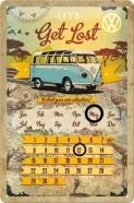 NostalgicArt retro stiilis kalender VW Let's get lost