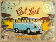 NostalgicArt metallplaat VW Let's get lost