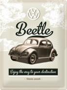 NostalgicArt metallplaat VW Beetle