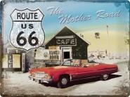 NostalgicArt metallplaat Route 66 punane auto