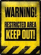 NostalgicArt metallplaat Restricted Area
