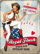 NostalgicArt metallplaat Royal Flush