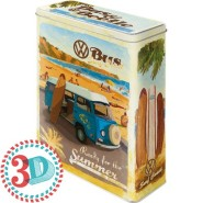 NostalgicArt metallpurk 3D VW Bus/Beetle Surf Coast 4L
