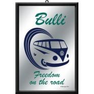 NostalgicArt reklaampeegel VW Bulli Freedom on the road
