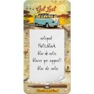NostalgicArt magnetiga kirjaplokk VW Let's get lost