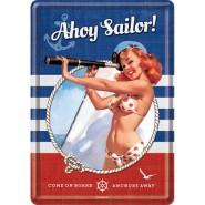 NostalgicArt metallist postkaart Ahoy Sailor!