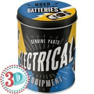 NostalgicArt säilituspurk 3D Electrical Used batteries 1L