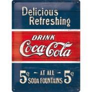 NostalgicArt metallplaat Coca-Cola 5c Delicious Refreshing