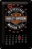 NostalgicArt retro stiilis kalender Harley-Davidson Genuine Motor Oil
