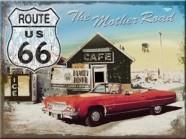 NostalgicArt magnet Route 66 Punane Auto