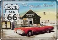 NostalgicArt metallist postkaart Route 66 Punane Auto