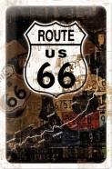 NostalgicArt metallplaat Route US 66