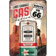 NostalgicArt metallplaat Route 66 Last chance gas station