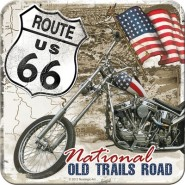 NostalgicArt retro klaasialus Route 66 Old Trails Road
