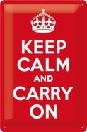 NostalgicArt metallplaat Keep calm and carry on