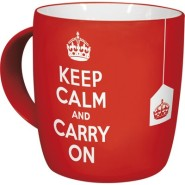 NostalgicArt kruus Keep calm and carry on 330 ml