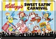 NostalgicArt metallist postkaart Kellogg's Sweet Eatin' Carnival