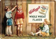 NostalgicArt metallist postkaart Kellogg's Whole Wheat Flakes