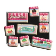 NostalgicArt külmkapimagnetite sari Fairy Cakes 9tk