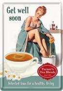 NostalgicArt metallist postkaart Get well soon 10x14.5cm