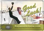 NostalgicArt metallist postkaart Good Luck! 10x14.5cm