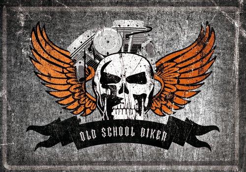 NostalgicArt metallist postkaart Old School Biker