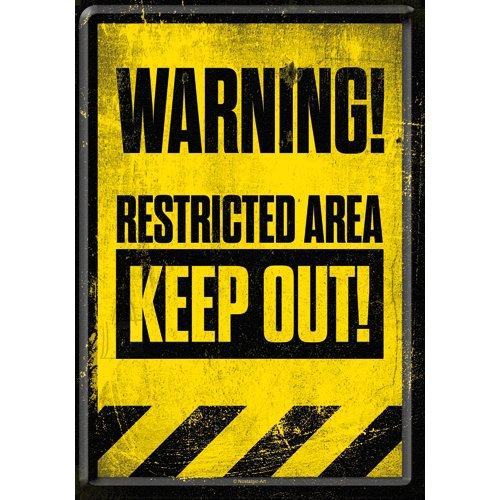 NostalgicArt metallist postkaart Restricted Area