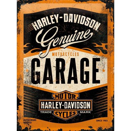 NostalgicArt metallplaat Harley-Davidson Garage
