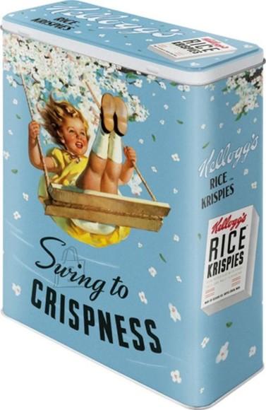 NostalgicArt Metallist säilituskarp Kellogg´s Rice Krispies Swing to Crispness 4 L