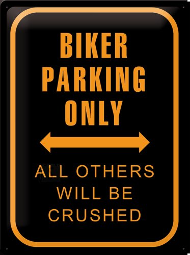 NostalgicArt metallplaat Biker Parking Only