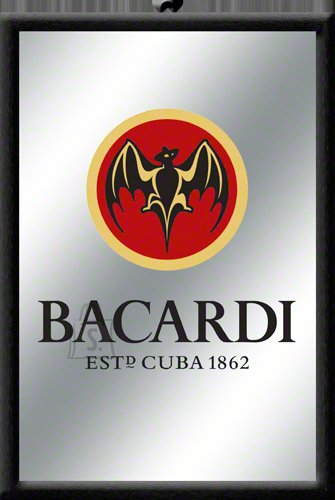 NostalgicArt reklaampeegel Bacardi