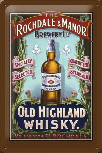 NostalgicArt metallplaat Old Highland Whisky