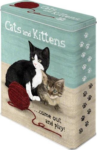 NostalgicArt Metallist säilituskarp Cats and Kittens 4 L