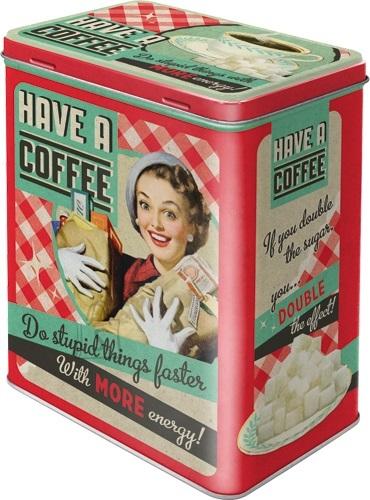 NostalgicArt Metallist säilituskarp Have a Coffee 3L