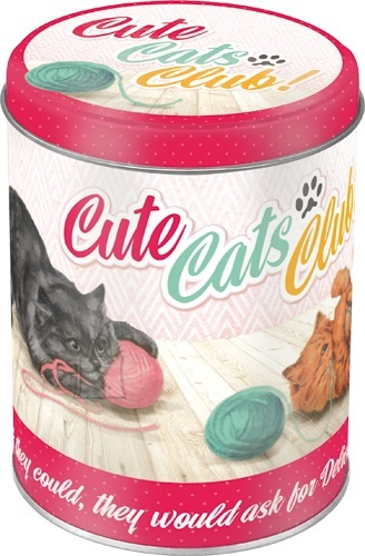 NostalgicArt Metallist säilituspurk Cute Cats Club