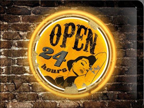 NostalgicArt metallplaat Open 24h