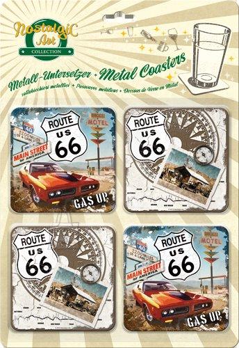 NostalgicArt retrostiilis klaasialused Route US 66 4tk