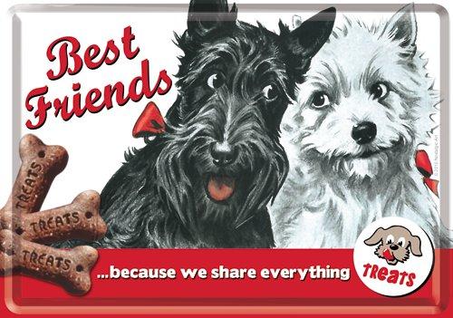 NostalgicArt metallist postkaart Best Friends!
