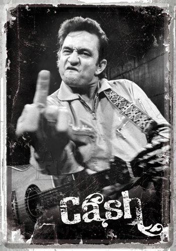 NostalgicArt metallist postkaart Johnny Cash