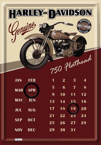 NostalgicArt metallist postkaart-kalender Harley-Davidson