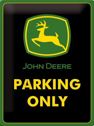 NostalgicArt metallplaat John Deere Parking Only