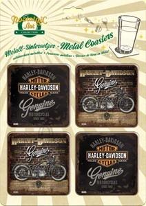 NostalgicArt retrostiilis klaasialused Harley-Davidson Genuine 4tk