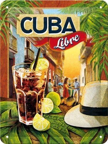 NostalgicArt metallplaat Cuba Libre