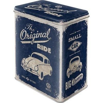 NostalgicArt Metallist säilituskarp VW Beetle The Original Ride